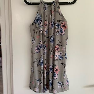 Floral Gray shift Dress